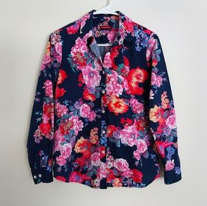 Women's floral button down shirt size L